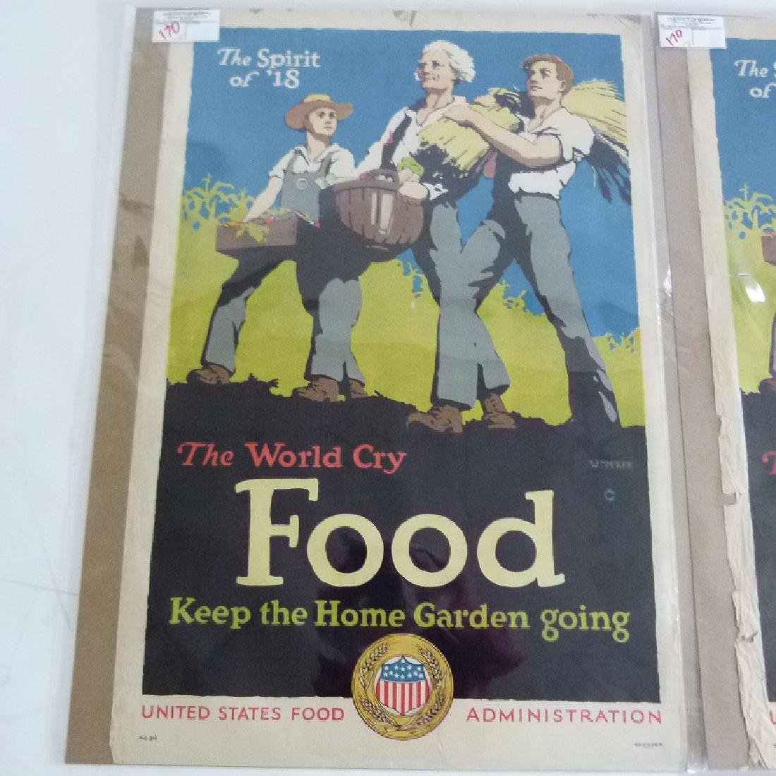 """LOT (2) LITHOS-POSTERS """"FOOD"""" - 2"""