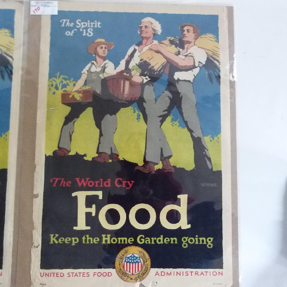 """LOT (2) LITHOS-POSTERS """"FOOD"""" - 5"""