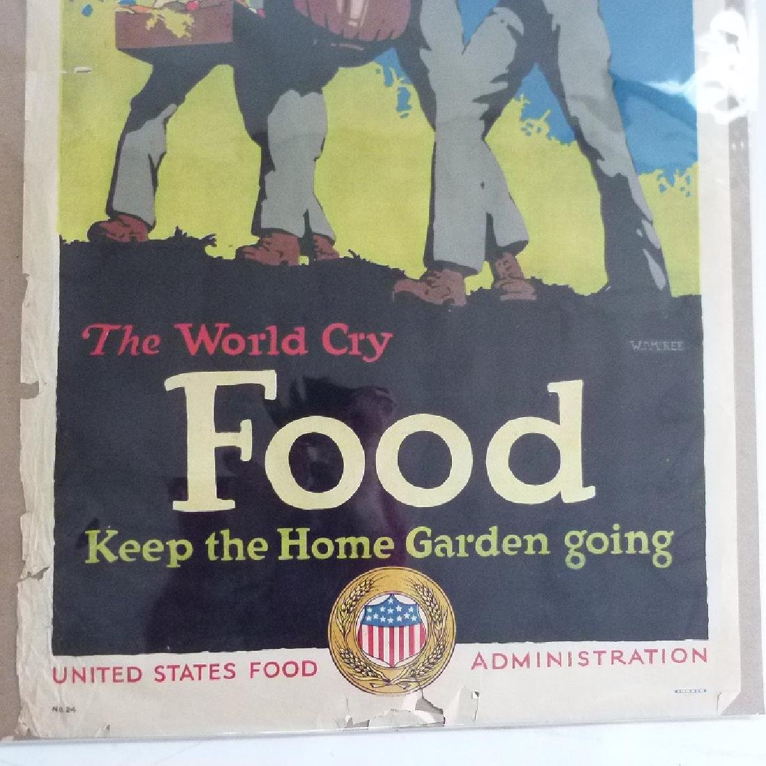 """LOT (2) LITHOS-POSTERS """"FOOD"""" - 7"""