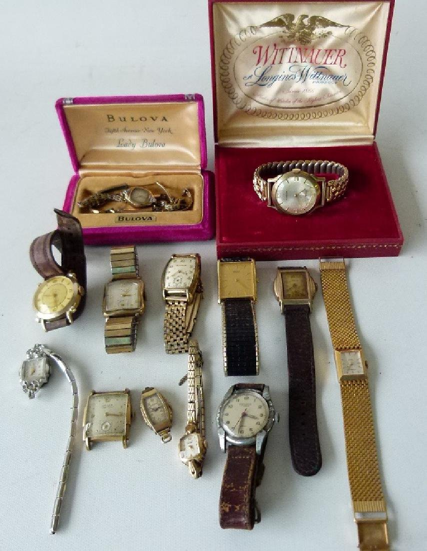 LARGE LOT ASSORTED VINTAGE WRIST WATCHES