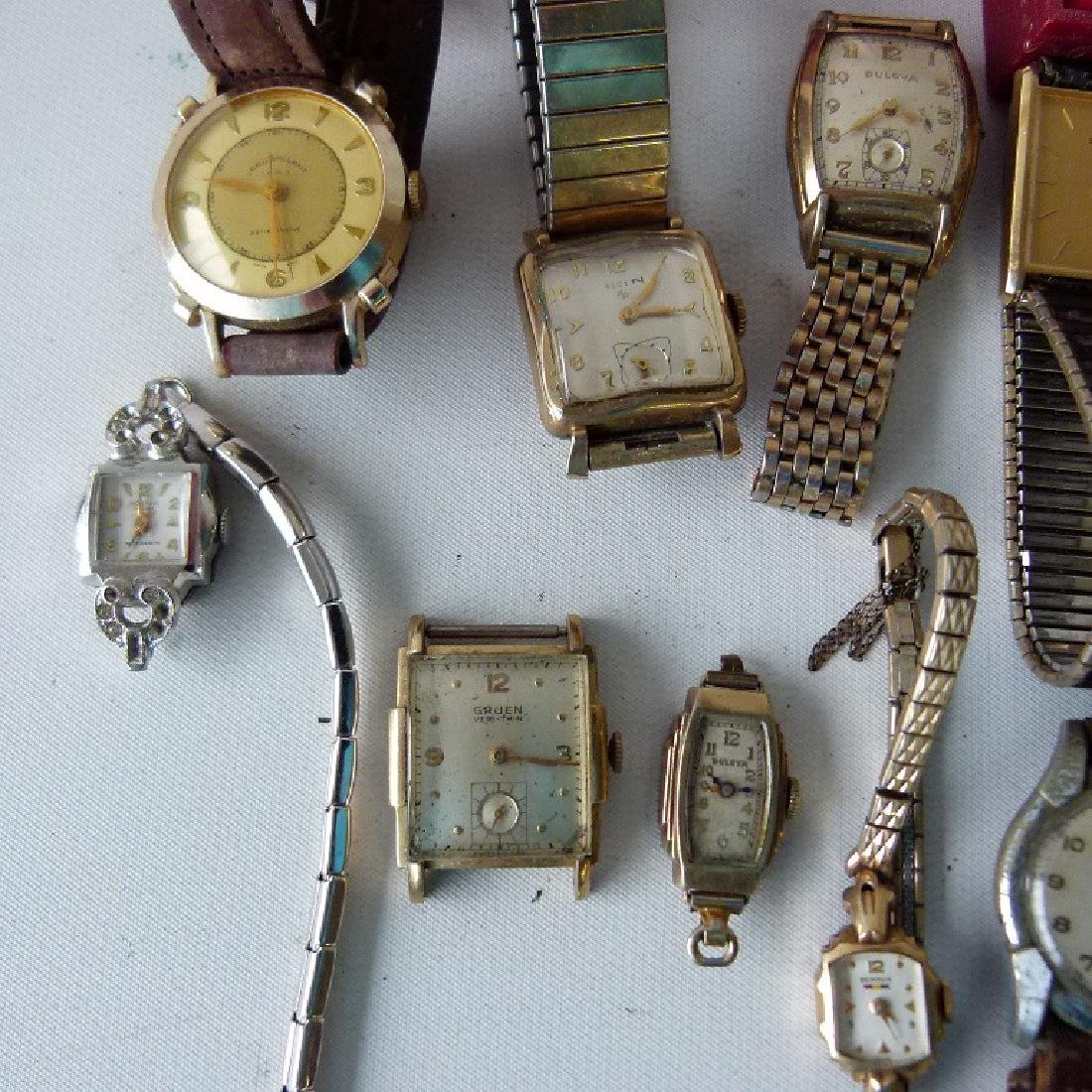 LARGE LOT ASSORTED VINTAGE WRIST WATCHES - 3
