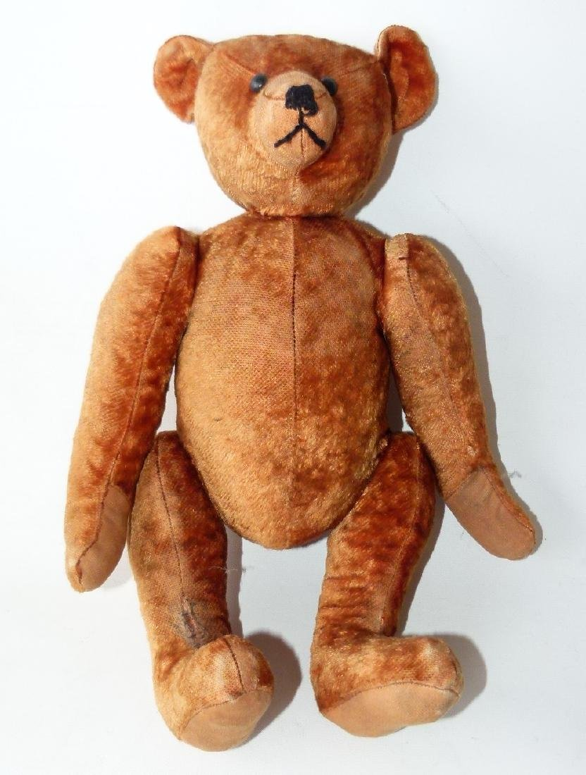 VINTAGE JOINTED TEDDY BEAR, CINNAMON