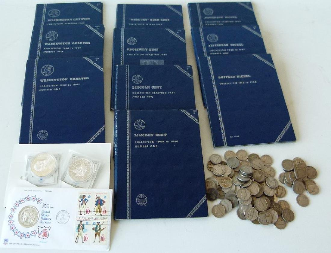 LOT ASSORTED US COIN BOOKS