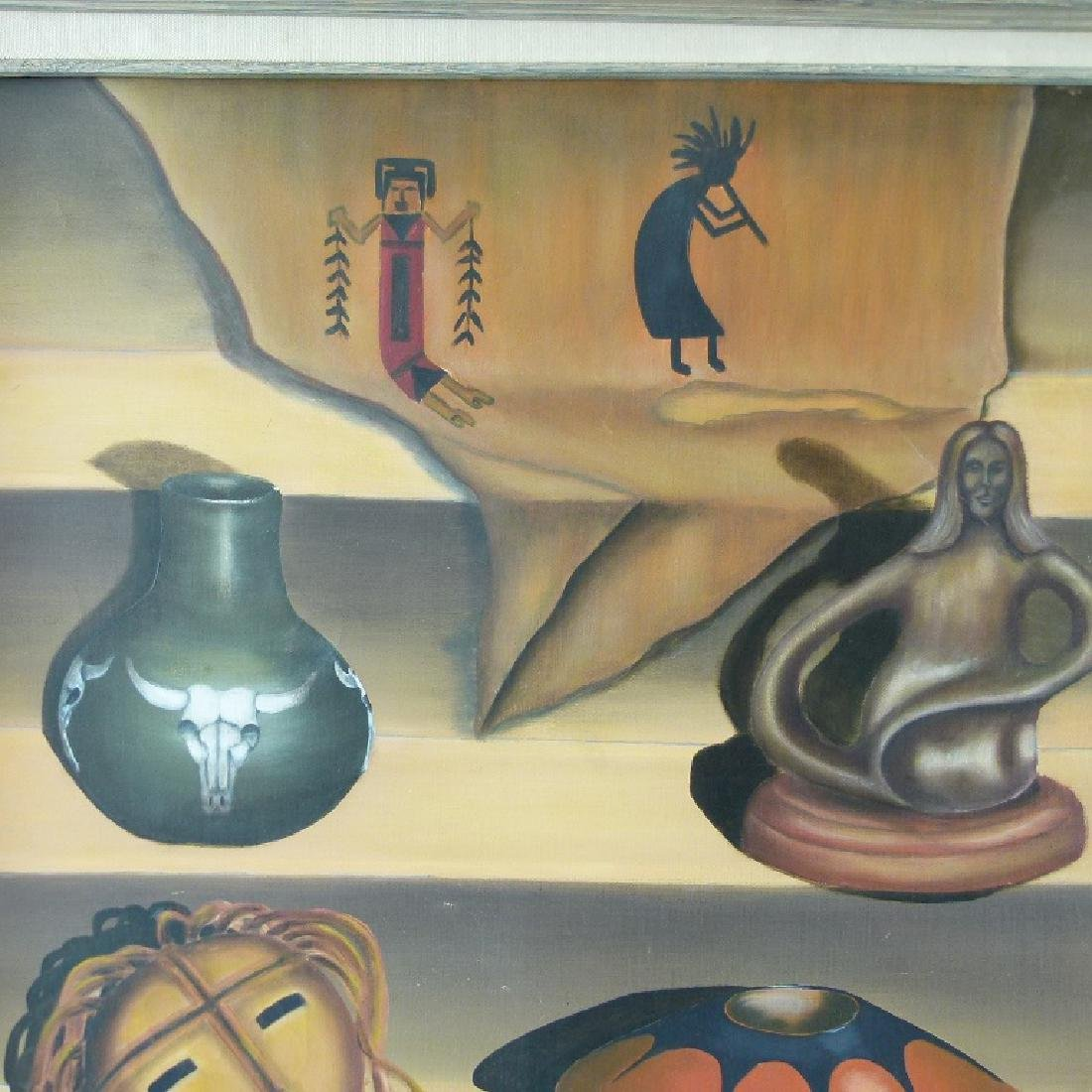 O/C STILL LIFE W/ INDIAN ARTIFACTS SIGNED - 2