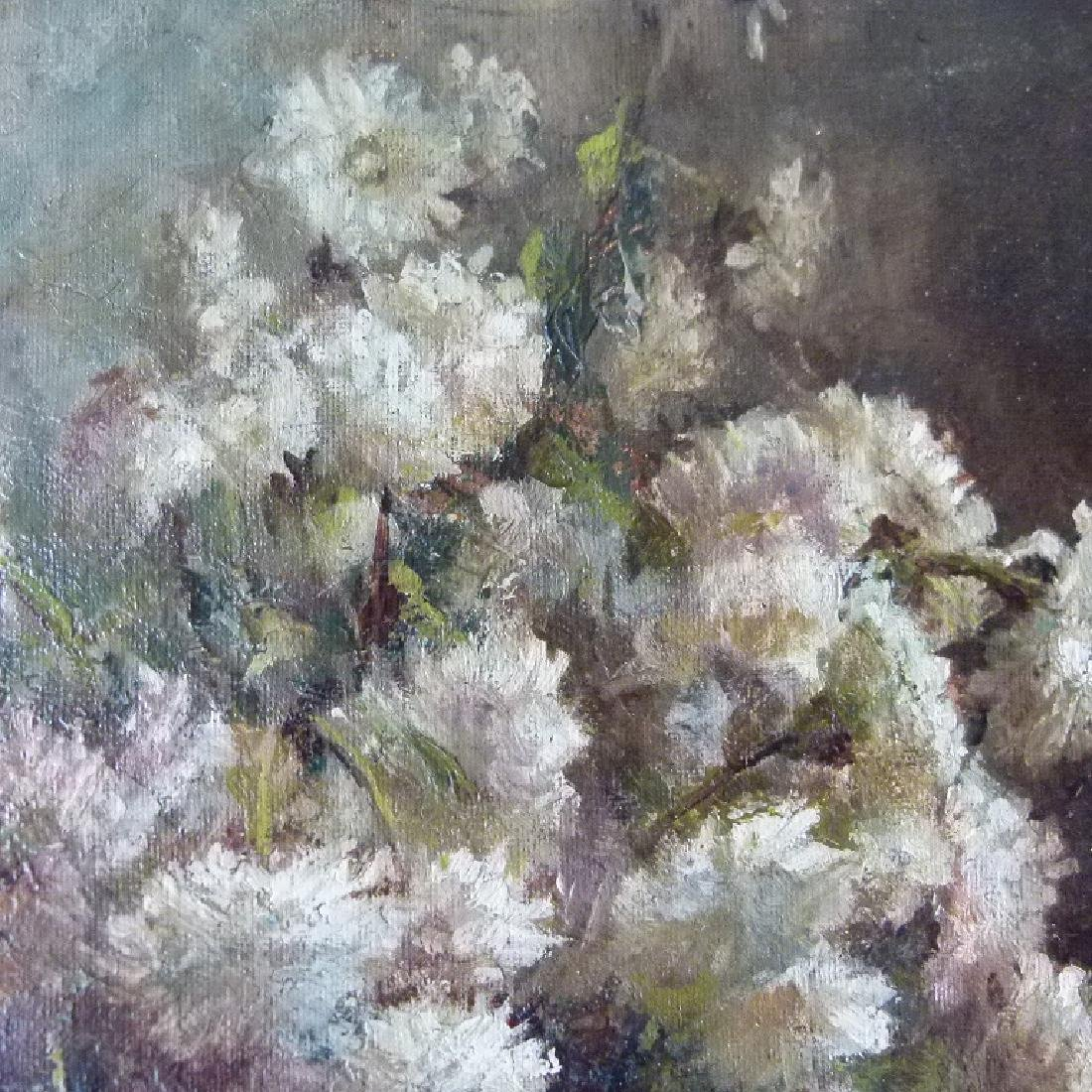 O/P STILL LIFE CHRYSANTHEMUMS - 5