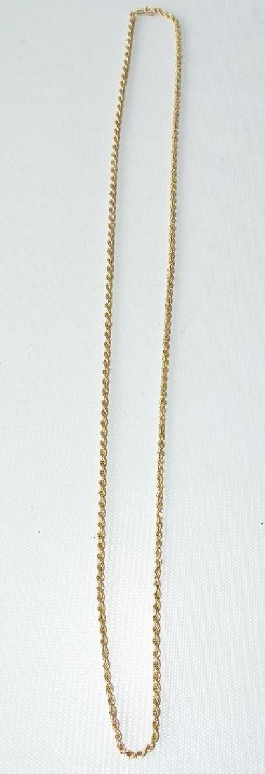 MODERN 14KT YELLOW GOLD ROPE NECKLACE