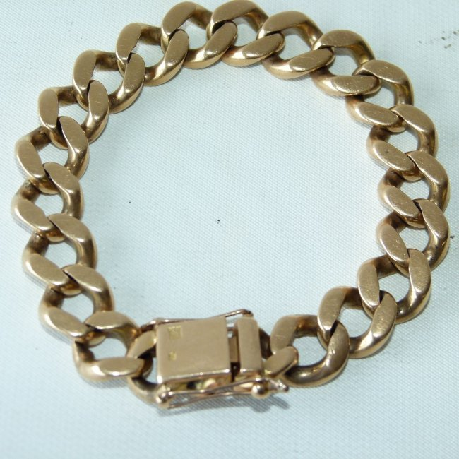 LARGE 18KT YELLOW GOLD LINK BRACELET, C. 1950 - 2