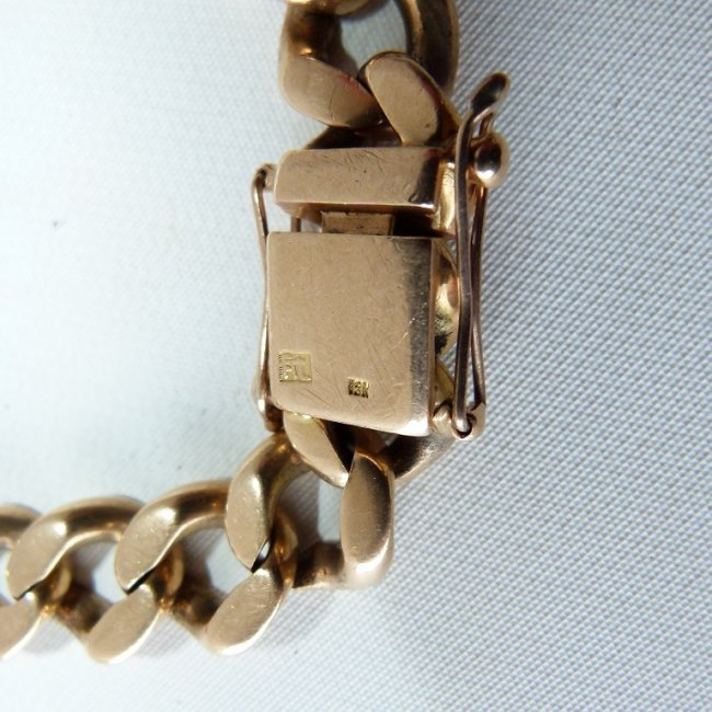 LARGE 18KT YELLOW GOLD LINK BRACELET, C. 1950 - 3
