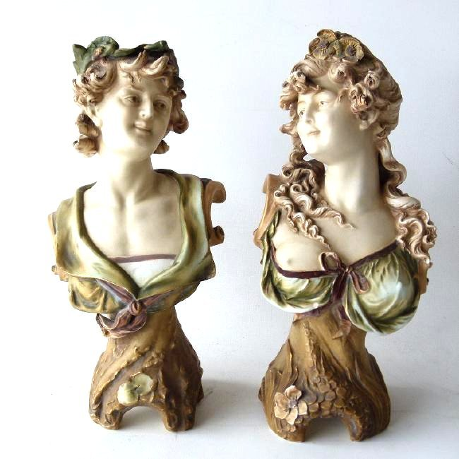 LOT (2) FRENCH BISQUE PORCELAIN FIGURINES