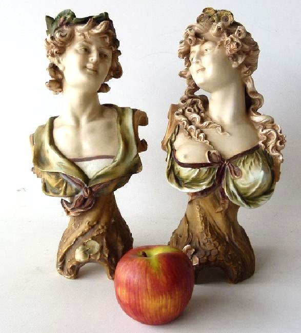 LOT (2) FRENCH BISQUE PORCELAIN FIGURINES - 2