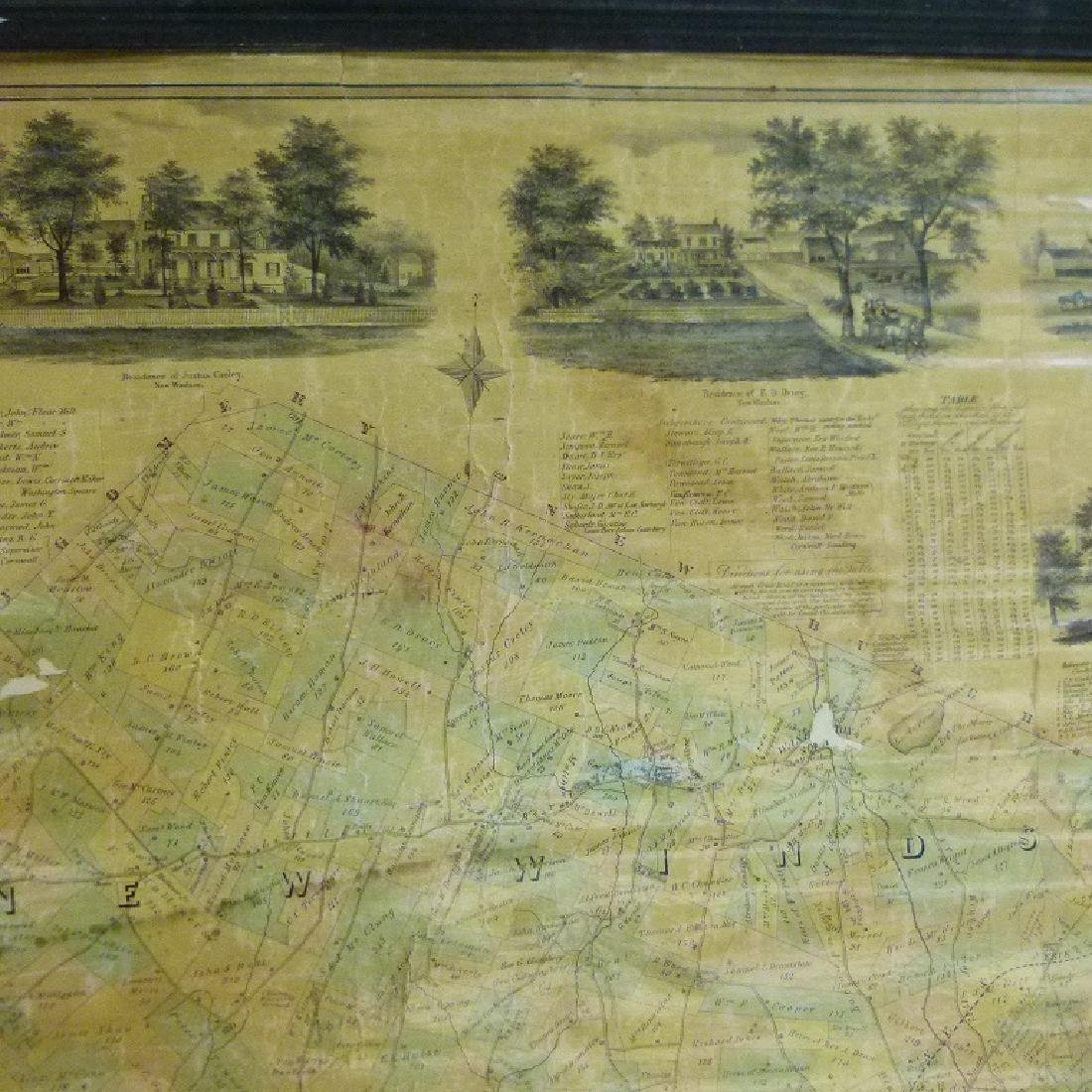 MAP OF NEW WINDSOR NEW YORK, HUGHES 1864 - 10
