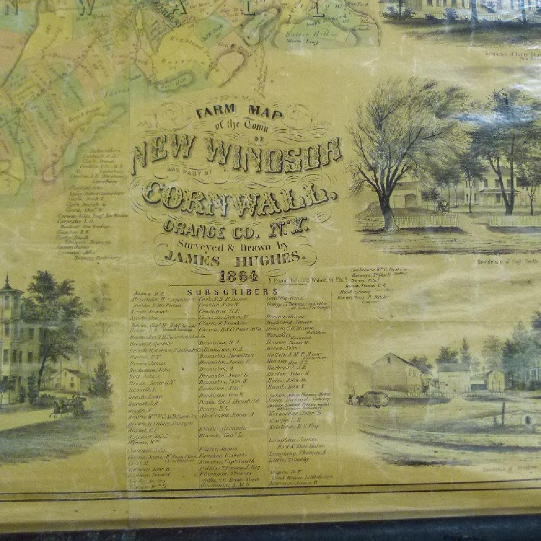 MAP OF NEW WINDSOR NEW YORK, HUGHES 1864