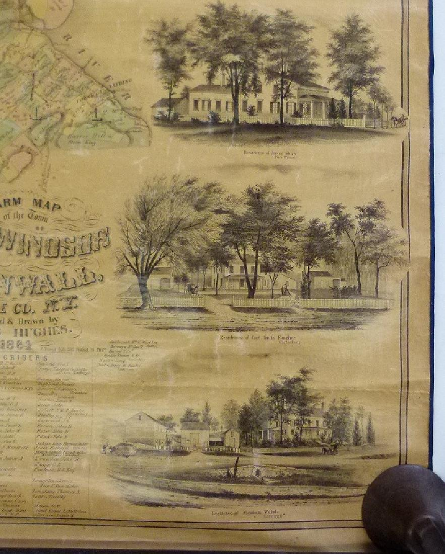 MAP OF NEW WINDSOR NEW YORK, HUGHES 1864 - 3