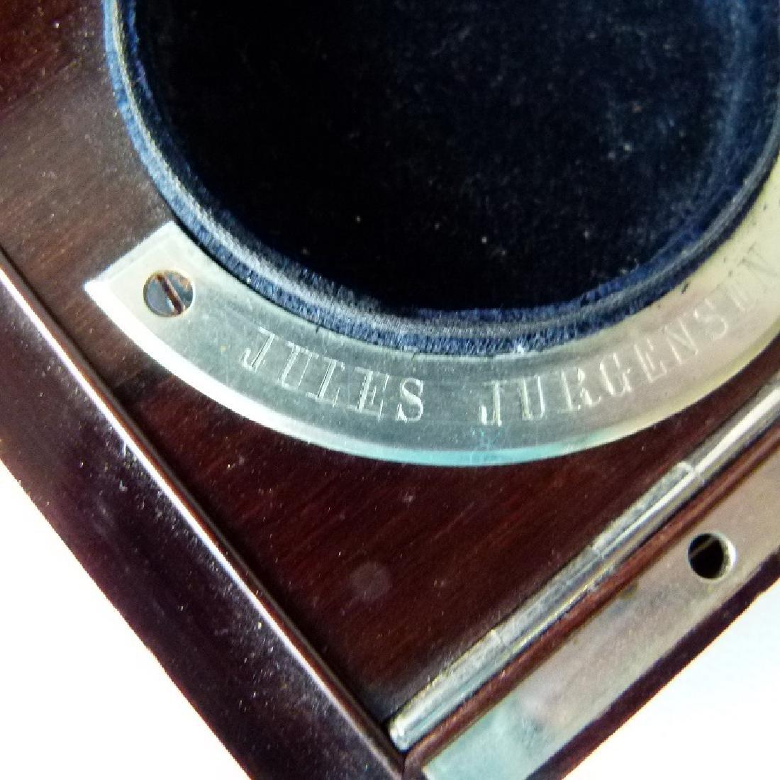 JULES JURGENSEN ROSEWOOD POCKET WATCH BOX - 2