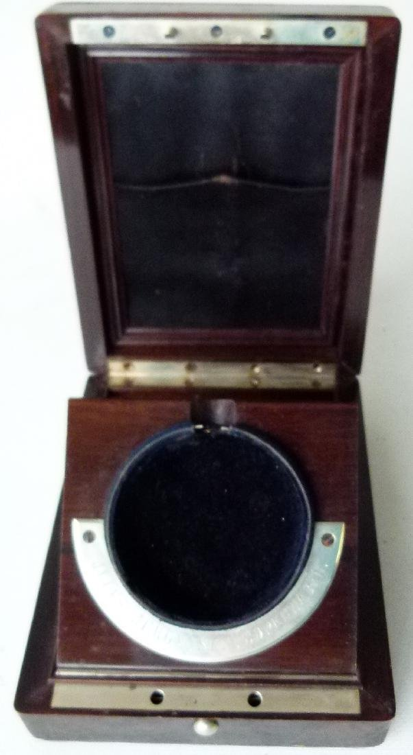 JULES JURGENSEN ROSEWOOD POCKET WATCH BOX - 4