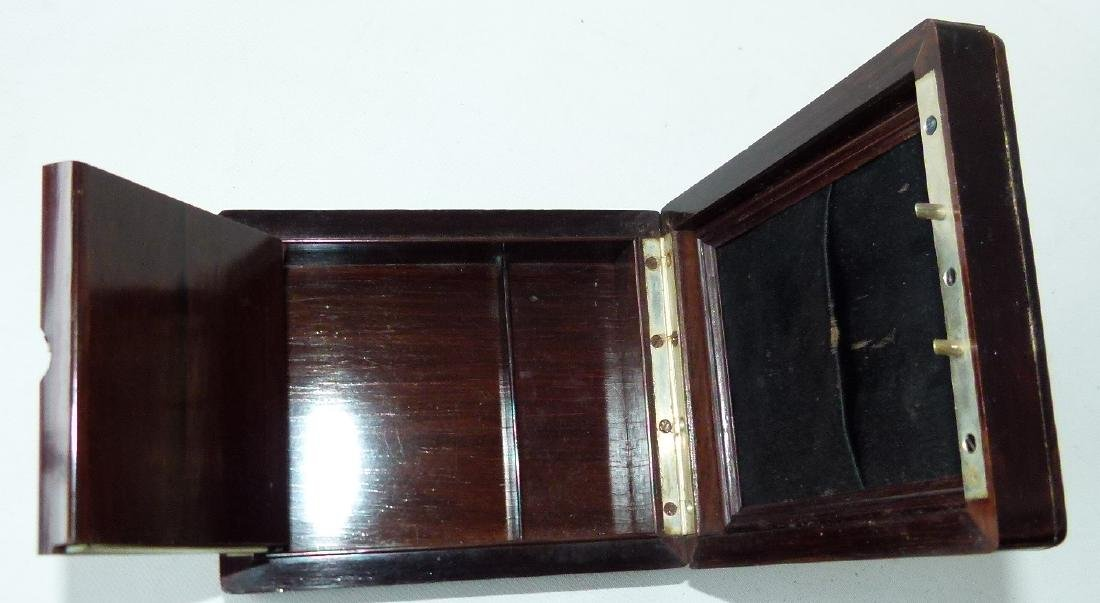 JULES JURGENSEN ROSEWOOD POCKET WATCH BOX - 6