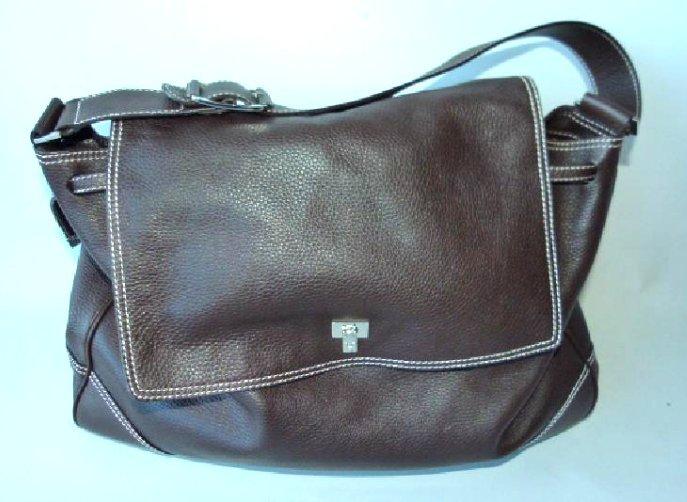 LAMBERTSON (ITALY) TRUEX BROWN LEATHER BAG