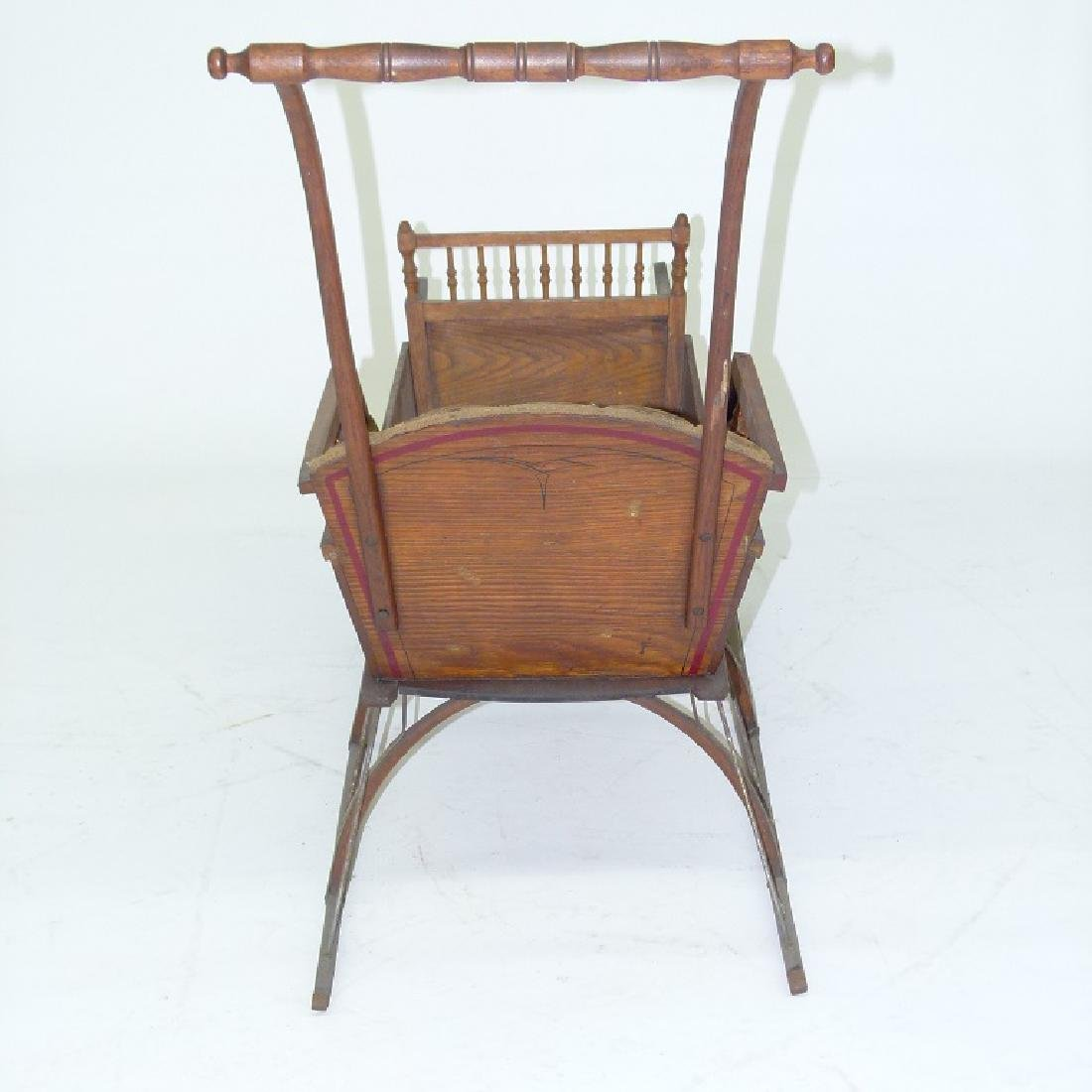 VICTORIAN CHESTNUT/PAINTED  PUSH SLEIGH - 6