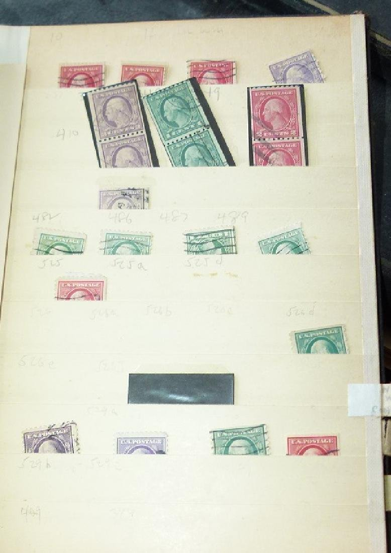 LARGE LOT ASSORTED STAMP STOCK BOOKS, MOSTLY US - 4