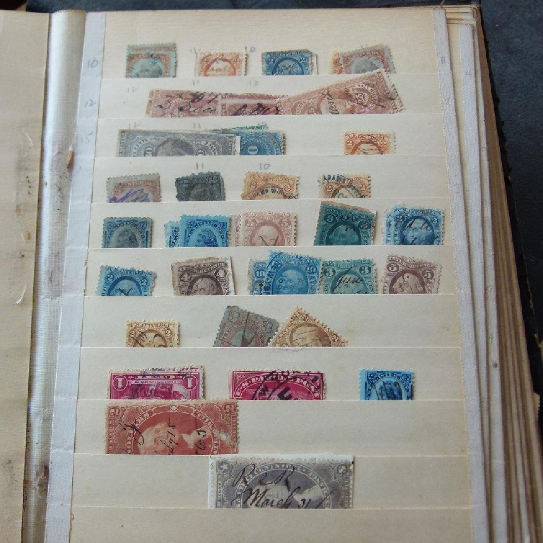 LARGE LOT ASSORTED STAMP STOCK BOOKS, MOSTLY US - 6