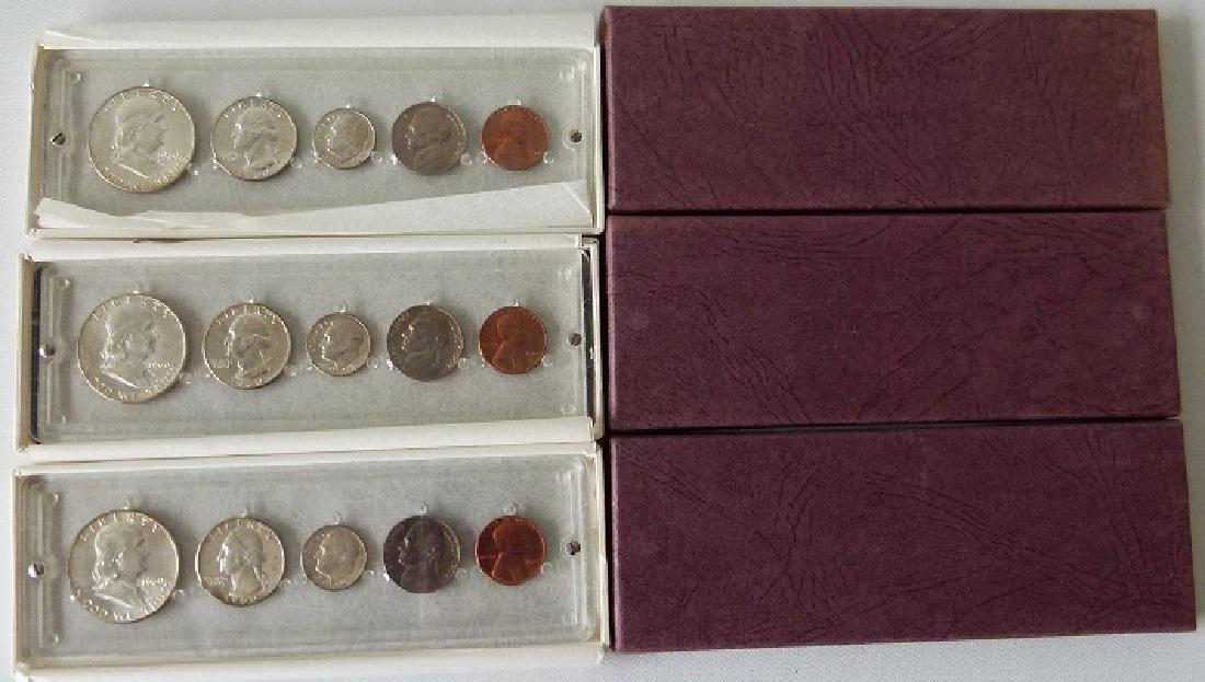 3 UNITED STATES 1960 P MINT/UNC. CASED SETS - 2