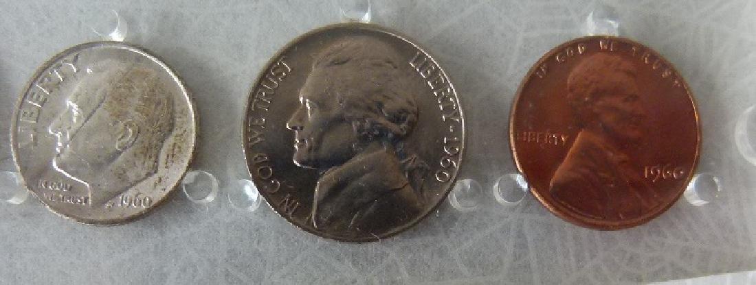 3 UNITED STATES 1960 P MINT/UNC. CASED SETS - 4