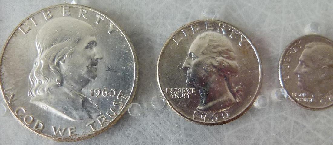 3 UNITED STATES 1960 P MINT/UNC. CASED SETS - 5