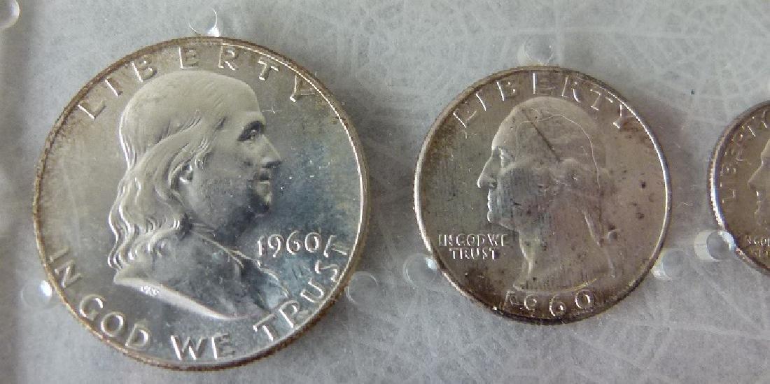 3 UNITED STATES 1960 P MINT/UNC. CASED SETS - 7