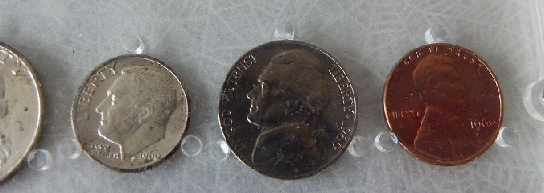 3 UNITED STATES 1960 P MINT/UNC. CASED SETS - 8