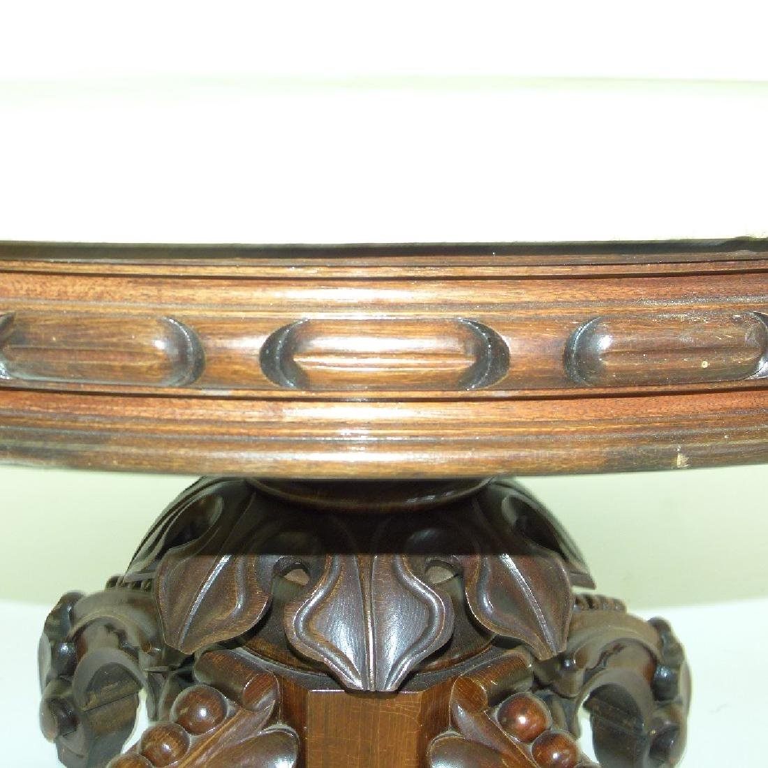 VICTORIAN WALNUT MARBLE TOP TABLE (REDUCED) - 6