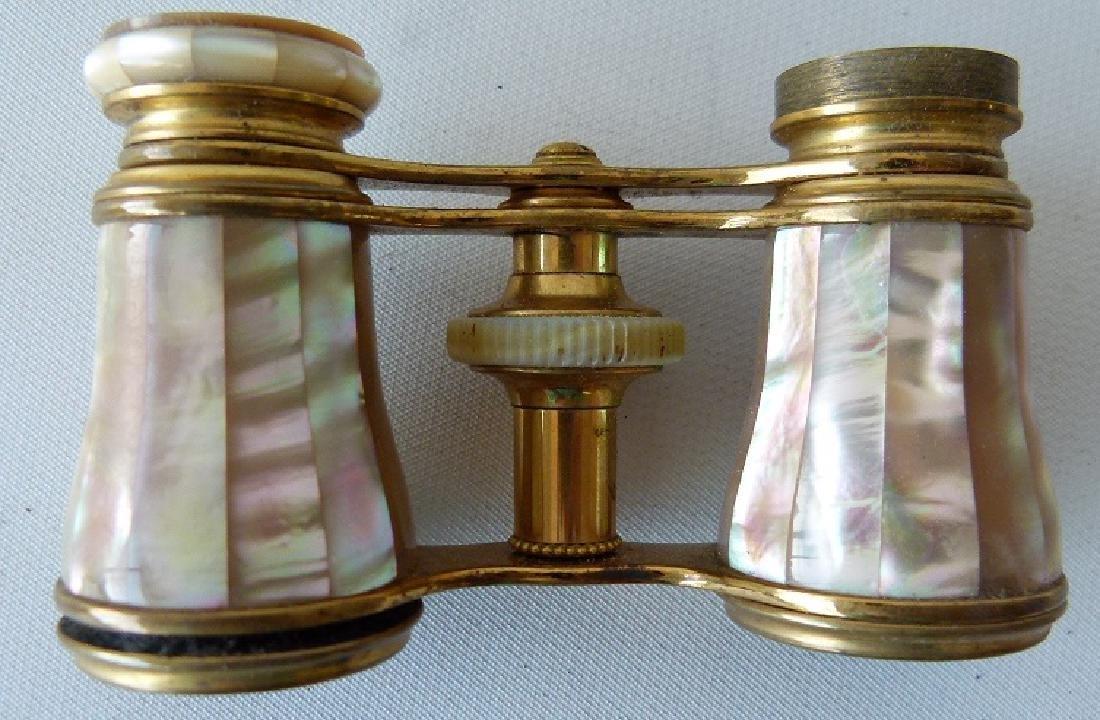 LEMAIRE PARIS ENAMELED/ABALONE OPERA GLASSES - 7