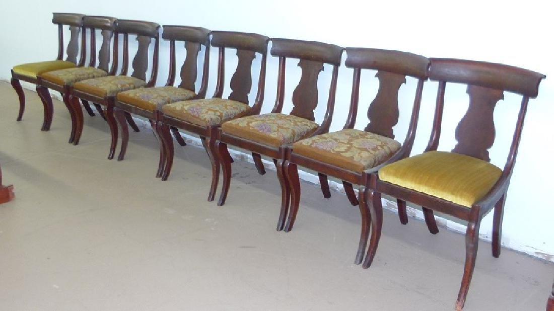8 PHILADELPHIA CLASSICAL CARVED MAHOGANY CHAIRS