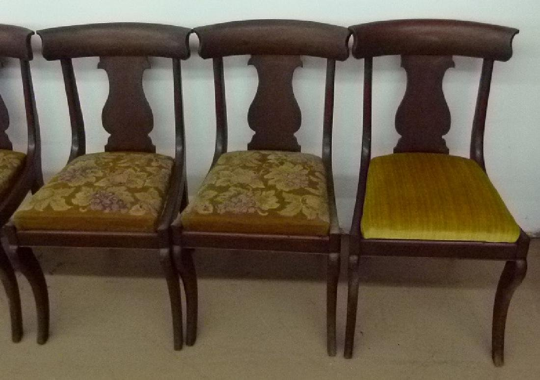 8 PHILADELPHIA CLASSICAL CARVED MAHOGANY CHAIRS - 2