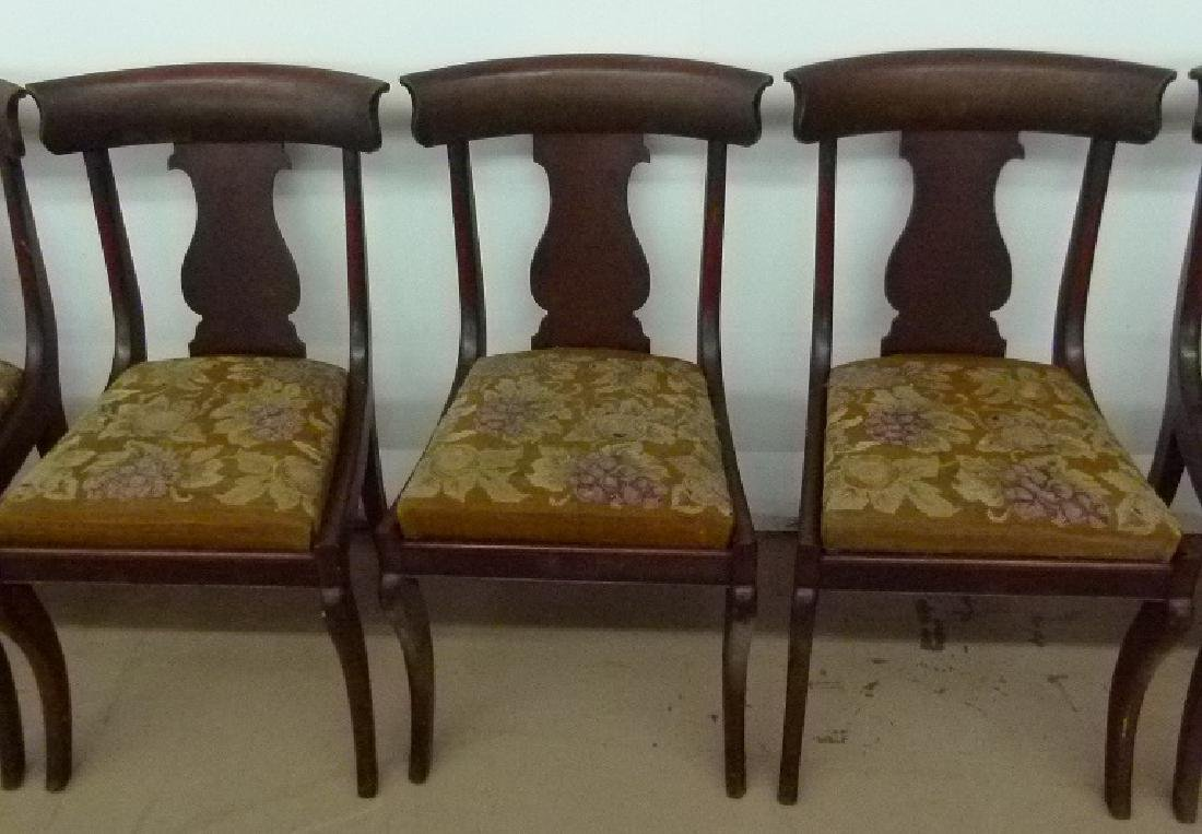 8 PHILADELPHIA CLASSICAL CARVED MAHOGANY CHAIRS - 3