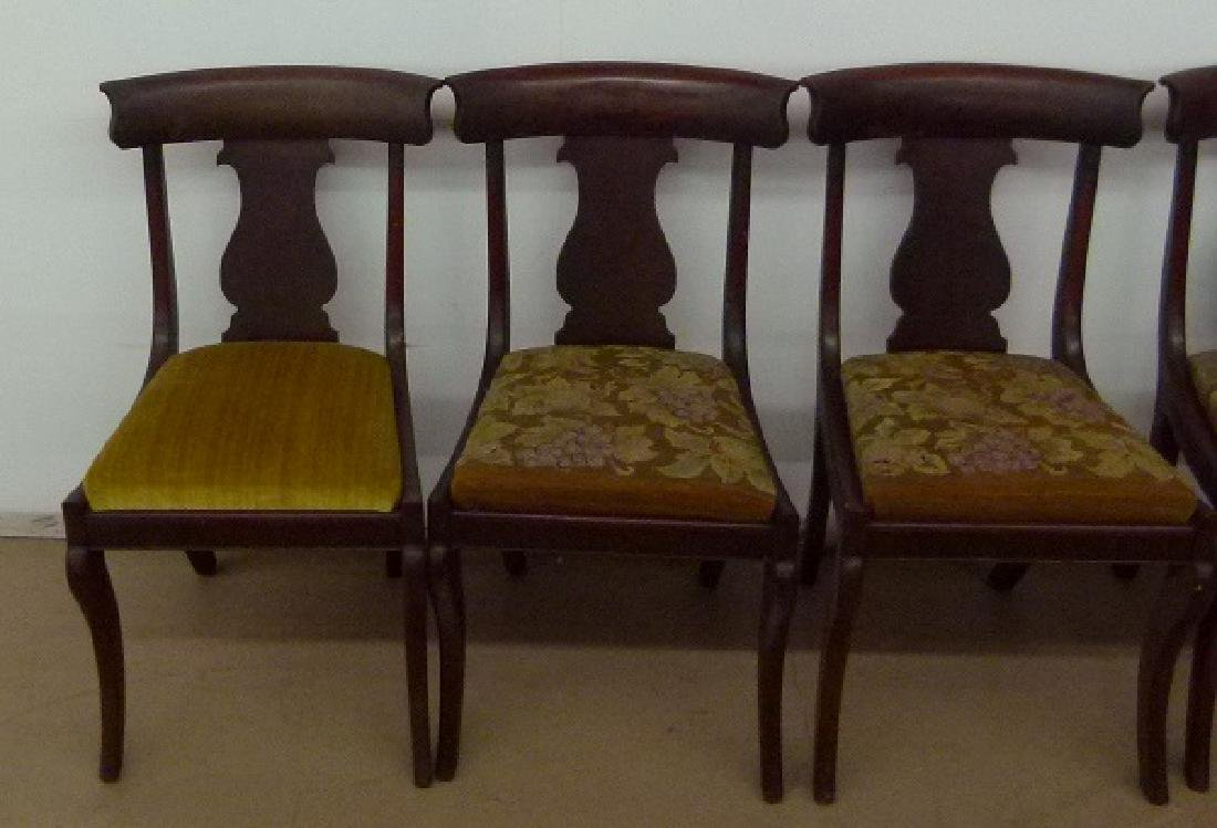 8 PHILADELPHIA CLASSICAL CARVED MAHOGANY CHAIRS - 4