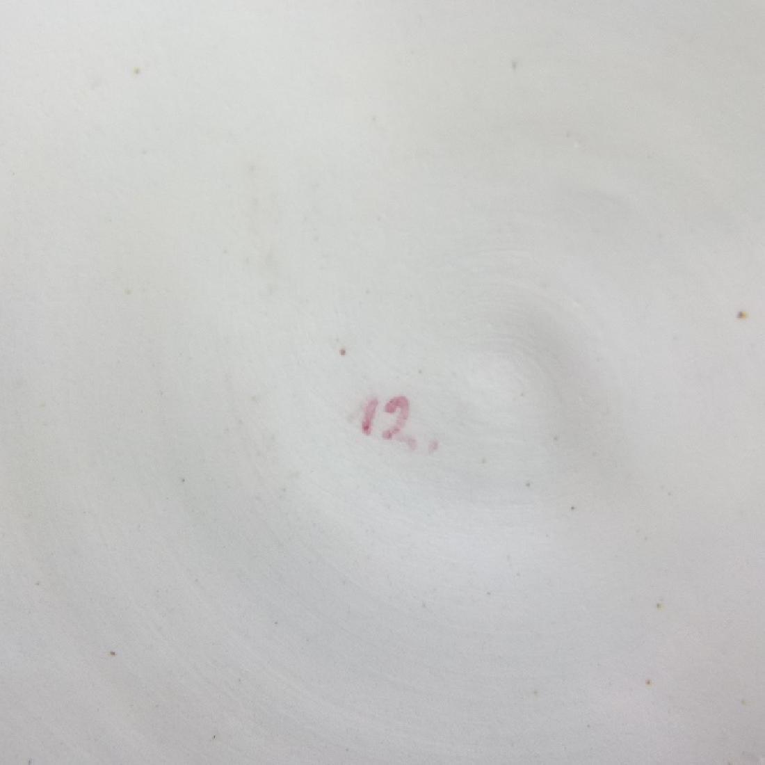 CAPODIMONTE GILT H/P PORCELAIN CHARGER/ BOWL - 7