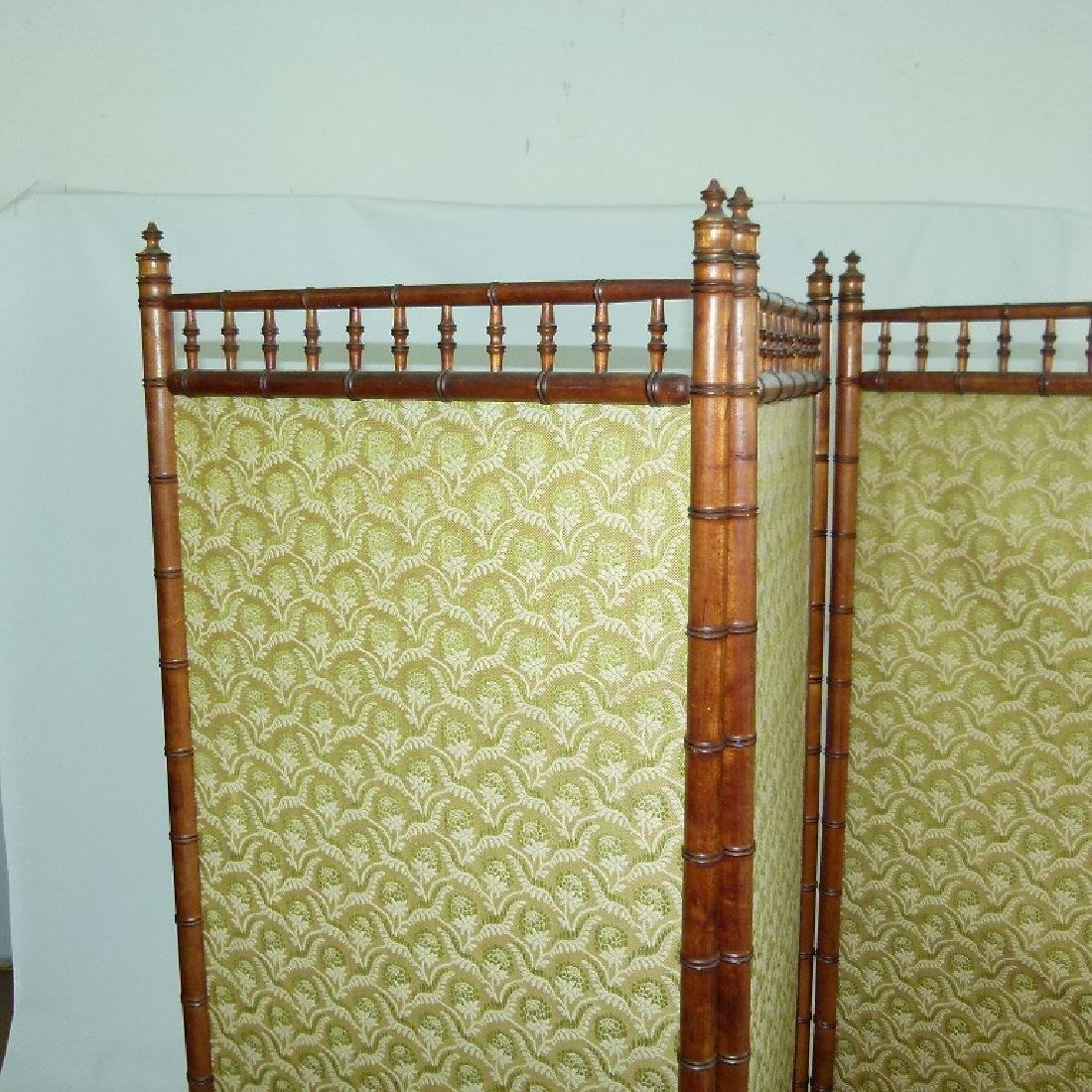 VICTORIAN FAUX BAMBOO 3 PART DRESSING SCREEN - 2