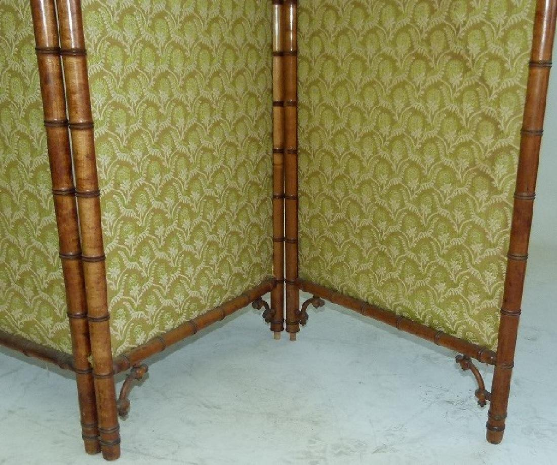 VICTORIAN FAUX BAMBOO 3 PART DRESSING SCREEN - 4