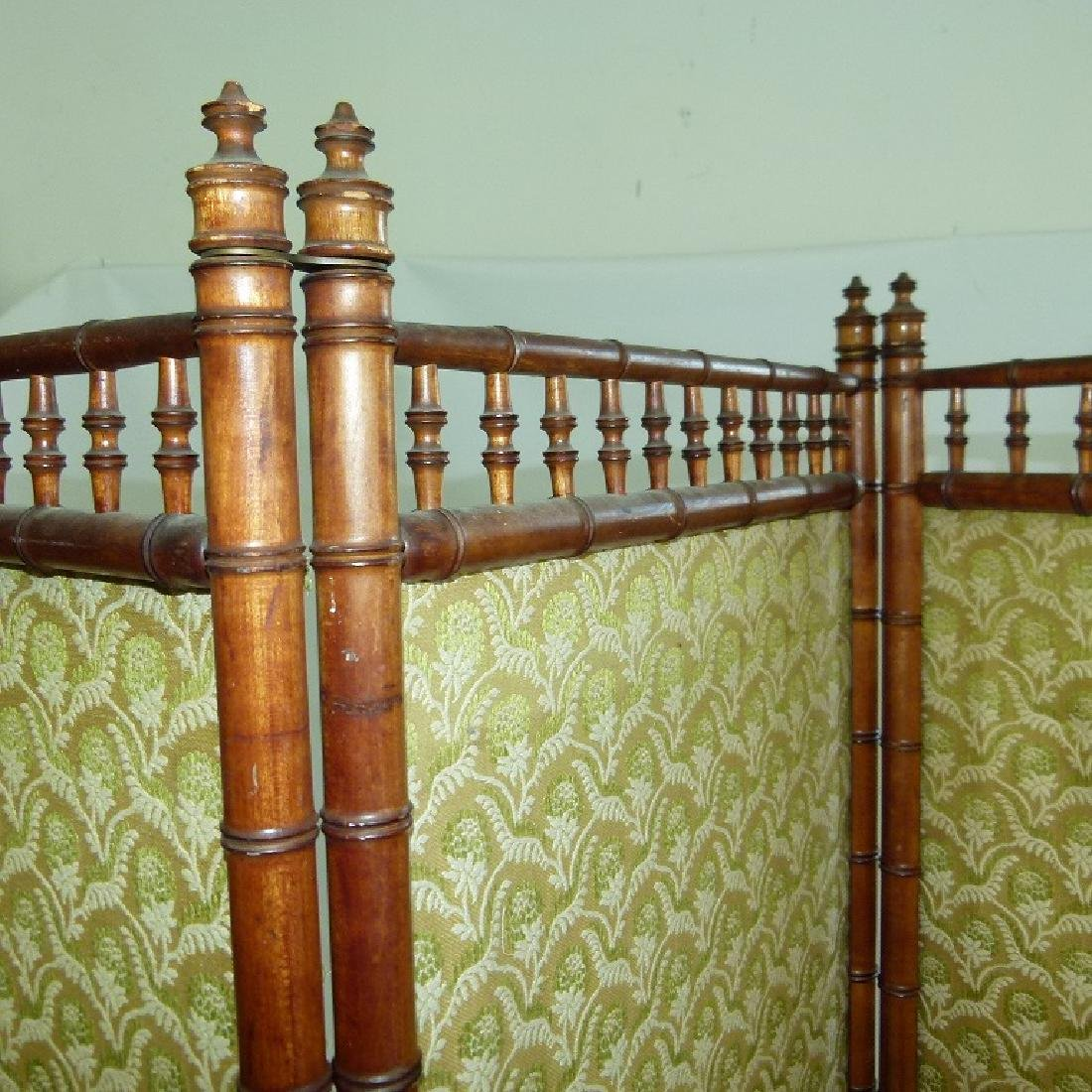 VICTORIAN FAUX BAMBOO 3 PART DRESSING SCREEN - 6