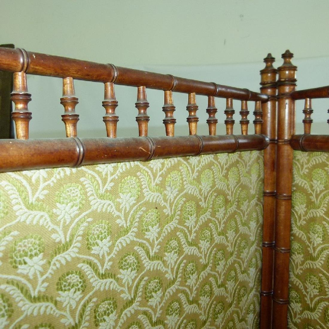 VICTORIAN FAUX BAMBOO 3 PART DRESSING SCREEN - 7