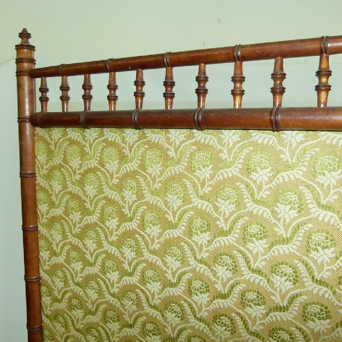 VICTORIAN FAUX BAMBOO 3 PART DRESSING SCREEN - 8