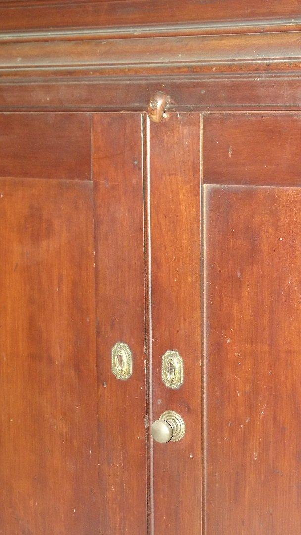 HUDSON VALLEY DIMINUTIVE FEDERAL CHERRY 2 PART CUPBOARD - 16