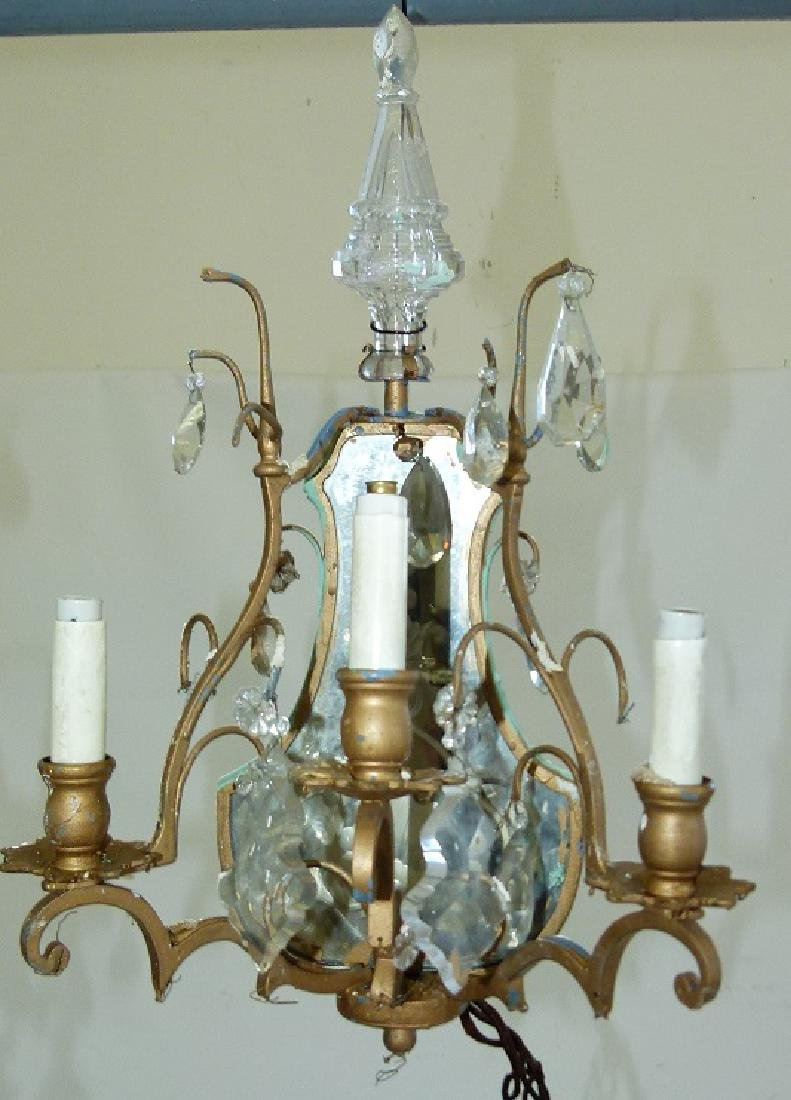 PAIR FRENCH BRONZE/CRYSTAL SCONCES, C. 1920 - 10