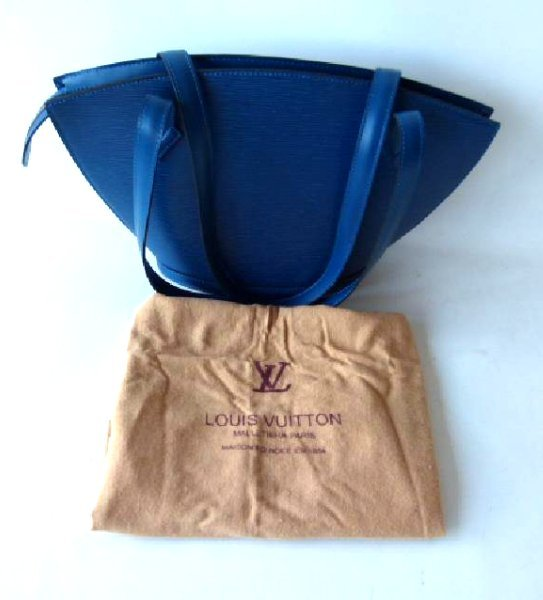 LOUIS VUITTON ST. JACQUES BLUE PURSE