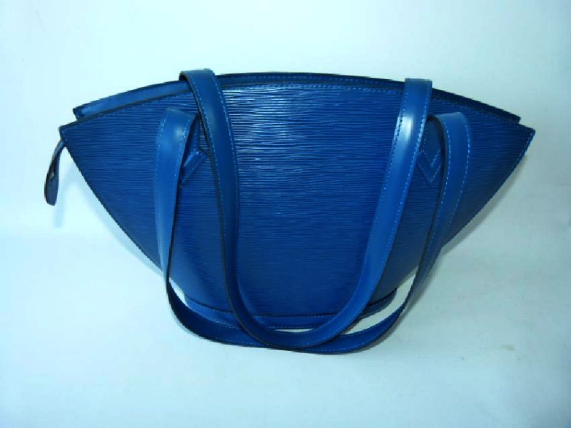 LOUIS VUITTON ST. JACQUES BLUE PURSE - 2