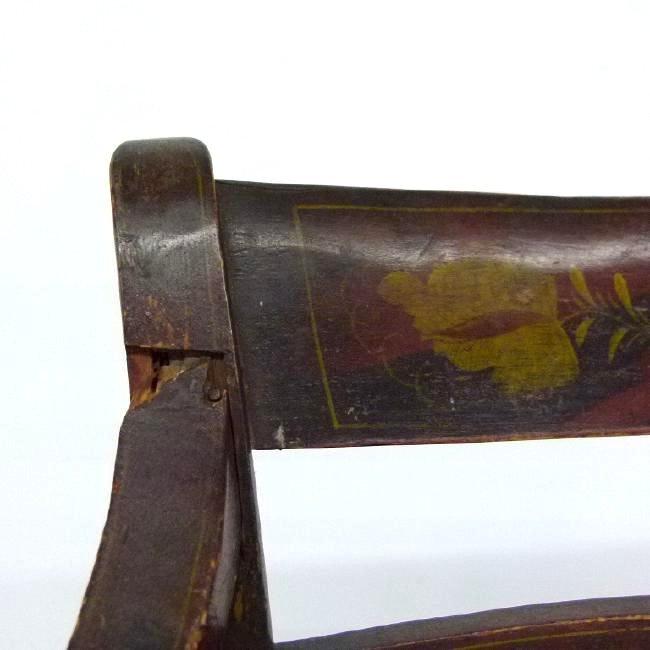 PAIR SHERATON H/P HITCHCOCK ARM CHAIRS, C. 1820 - 10