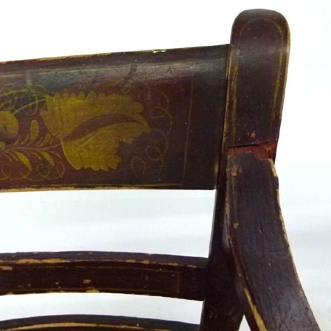 PAIR SHERATON H/P HITCHCOCK ARM CHAIRS, C. 1820 - 3