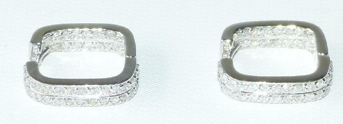 PR. MODERN 14KT. WHITE GOLD/DIAMOND EARRINGS