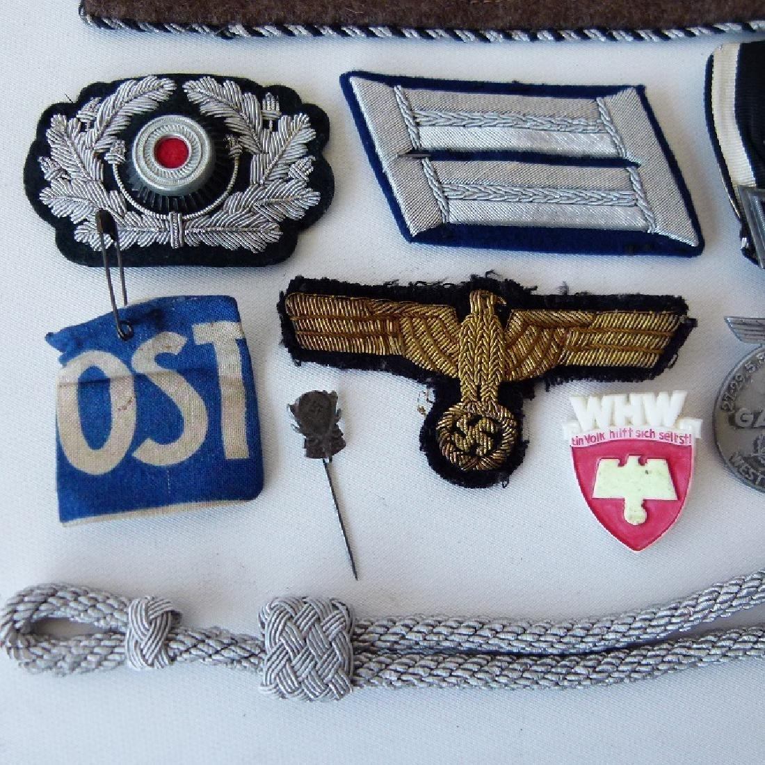 WWII GERMAN/US MILITARY PINS, BUTTONS, BADGES - 10