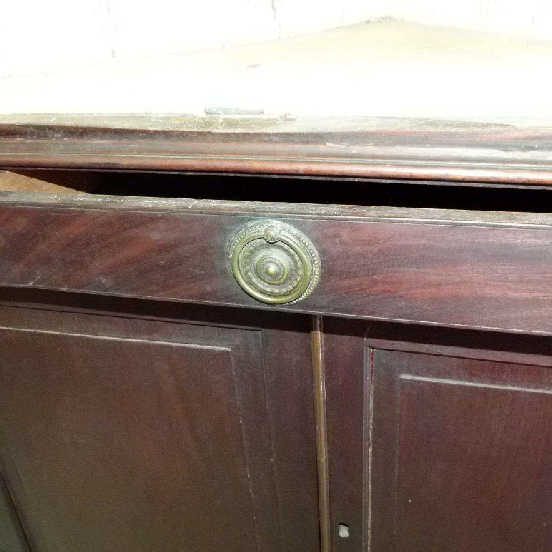CHIPPENDALE MAHOGANY 2 PART CORNER CUPBOARD - 10